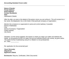 Accounting Assistant Cover Letter Sample For Resume Letters