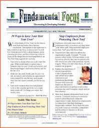Example Of A News Letter Newsletter Examples Bio Example 5