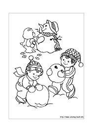 Troetelbeertjes Sneeuwpop Maken Troetelbeertjes Kleurplaten