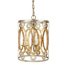 old world design lighting. Old World Design Parker Silver And Gold Stamped Metal Round Pendant Lighting L