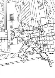 Small Picture People Favorite Character GI Joe Snake Eyes Coloring Pages