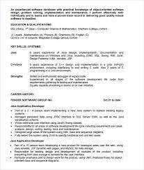 Sample Resume Of Net Developer Sample Resume For Experienced Net