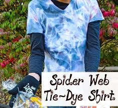 learn how to make a spider web tie dye shirt using a resist technique it s easy and fun to make and super cute to wear around