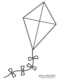 Small Picture Kite coloring page Storytime Activity Ideas Pinterest Kites