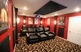 home elements and style medium size home theater panels acoustic fabric wall finishing diy home