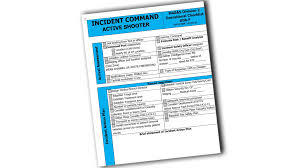 Ems Ics Chart Incident Command Active Shooter Operational Checklist