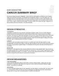 Career Summary Templates Memberpro Co How To Write A
