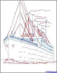How To Draw The Titanic Titanic