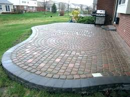 Backyard Paver Designs Extraordinary Wonderful Round Concrete Pavers Near Me Rare Related Post Patio