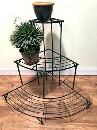 outdoor corner plant stand metal garden stands vintage 3 tier pot display tiered outdoor corner plant stand metal
