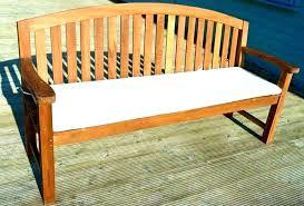 argos garden bench seat cushions cushion outdoor furniture black indoor 4 ft