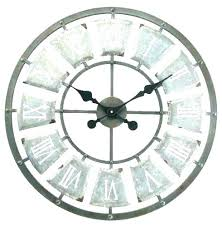outside wall clocks outdoor clock and thermometer combo large