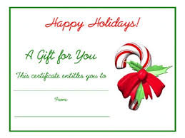 christmas gift card templates free holiday gift certificates templates to print gifts for
