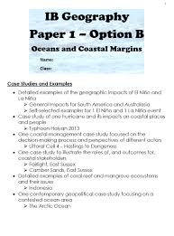 How To Revise A Paper Resource Ibdp Geography Case Study Revision Booklets Mrs