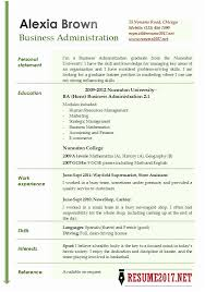 2017 Resume Examples Magnificent As Administration Sample Resume Business Administration Resume