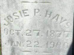 "Josephine P. ""Josie"" Hays (1877-1900) - Find A Grave Memorial"