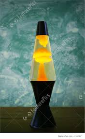 House Decor Lava Lamp With Yellow Contents