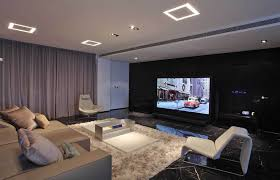 Small Home Theater Small Home Theater Design With Rug For Comfy And Simple Seating