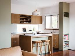 Melbourne Mid Century Kitchen Cabinets With Midcentury Modern Pendant  Lights And Window