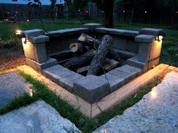 built in fire pit covers fire pit landscaping ideas