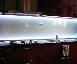 Backsplash Lighting Mesmerizing Backlit Glass Backsplash Our Sink Has No Cabinets Above It For