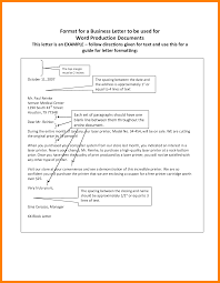 6 Proper Spacing For A Business Letter Format Of Notice