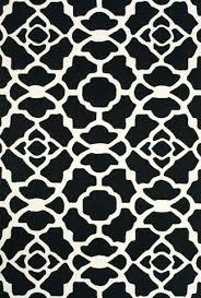 black and white rugs collection hand hooked wool area rug in black and white by fine