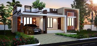 flat roof style houses at 1088 sq ft or 121 sq yards with beautiful elevation small house plans in kerala