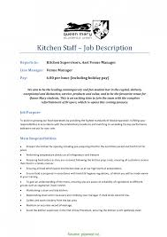 Sample Kitchen Supervisor Resume Perfect Kitchen Staff Resume Gallery Documentation Template 7