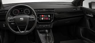 new seat ibiza frontal view of dashboard alcantara black dl pl0 pig with