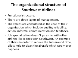 Southwest Airlines Organization Chart Resources Capabilities And Organizational Structure