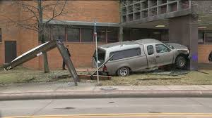 Pickup truck hits Cleveland Police Second District headquarters ...
