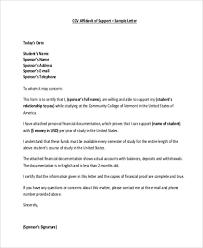 Affidavit Of Support Letter Inspiration Sample Affidavit Of Support 44 Free Documents In PDF
