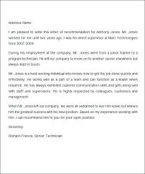 Sample Employment Letters Of Recommendation Model Reference Letter Job Recommendation Letter Sample Employee