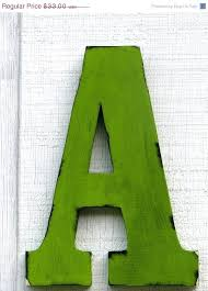 large decorative wooden letters large wall letters 2 foot rustic wooden letter a distressed painted citrus green tall wood name letters kids room decor