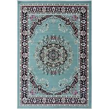ottomanson paterson collection traditional medallion design sage green 5 ft x 7 ft area rug ptr1616 5x7 the home depot