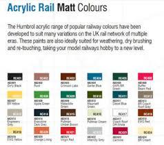 Humbrol Paint Chart Uk Details About Humbrol Model Acrylic Rail Colour Paint Pots Various Colours