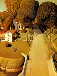 the birthplace of herbert hoover 1931 grant wood
