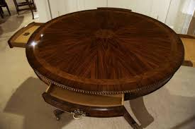 48 inch round dining table drawer