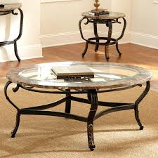 iron glass coffee table antique round glass coffee table with stone border and metal frame design iron glass coffee table