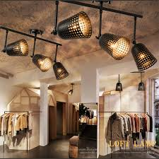 vintage track lighting. Haomer Creative Loft Industrial Ceiling Lamp Track Lights Bar Clothing Retro Vintage LED COB Lighting G