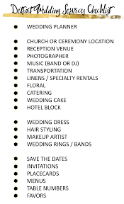 a detroit wedding vendor checklist Wedding Checklist Of Vendors Wedding Checklist Of Vendors #16 wedding checklist of vendors
