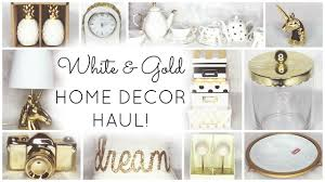 Small Picture Decorating White Gold Home Decor Haul At Tj Maxx And Homegoods