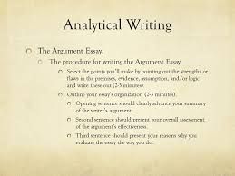 lecture notes for the gre analytical writing strategies lesson  13 analytical