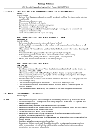 Acute Dialysis Registered Nurse Resume Samples | Velvet Jobs