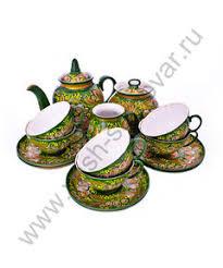 «<b>Чайный сервиз</b>, русский <b>стиль</b>, хохлома» — Посуда и кухонные ...
