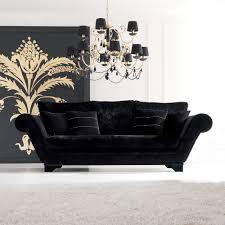 modern black sofas. Modren Modern Luxurious Modern Black Velvet Three Seater Sofa To Sofas