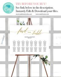Find Your Table Gold Wedding Seating Chart Guest Table