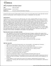 Administrative Duties Resumes Office Assistant Duties For Resume Job Description Administrative