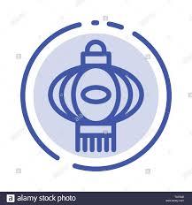 Chinese Symbol Of Light Lantern Light China Chinese Blue Dotted Line Line Icon